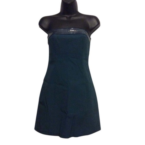 Cache Dresses & Skirts - Cache Teal Strapless Stretch Dress